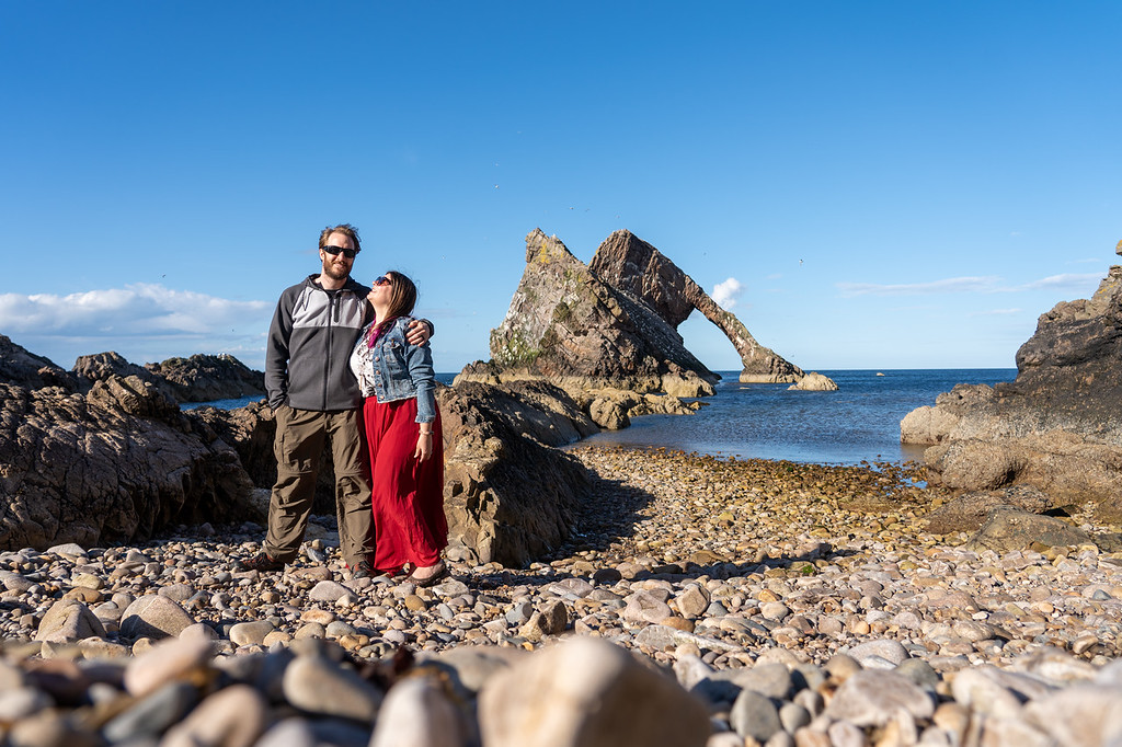 Bow Fiddle Rock in Scotland