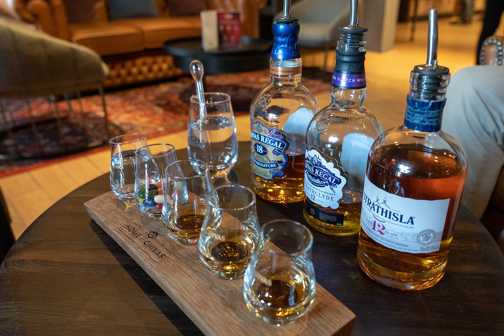 Whisky tasting at Strathisla