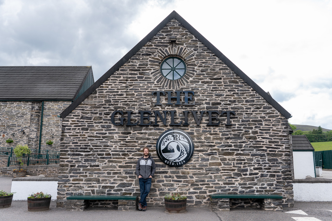 Elliot at The Glenlevit Distillery
