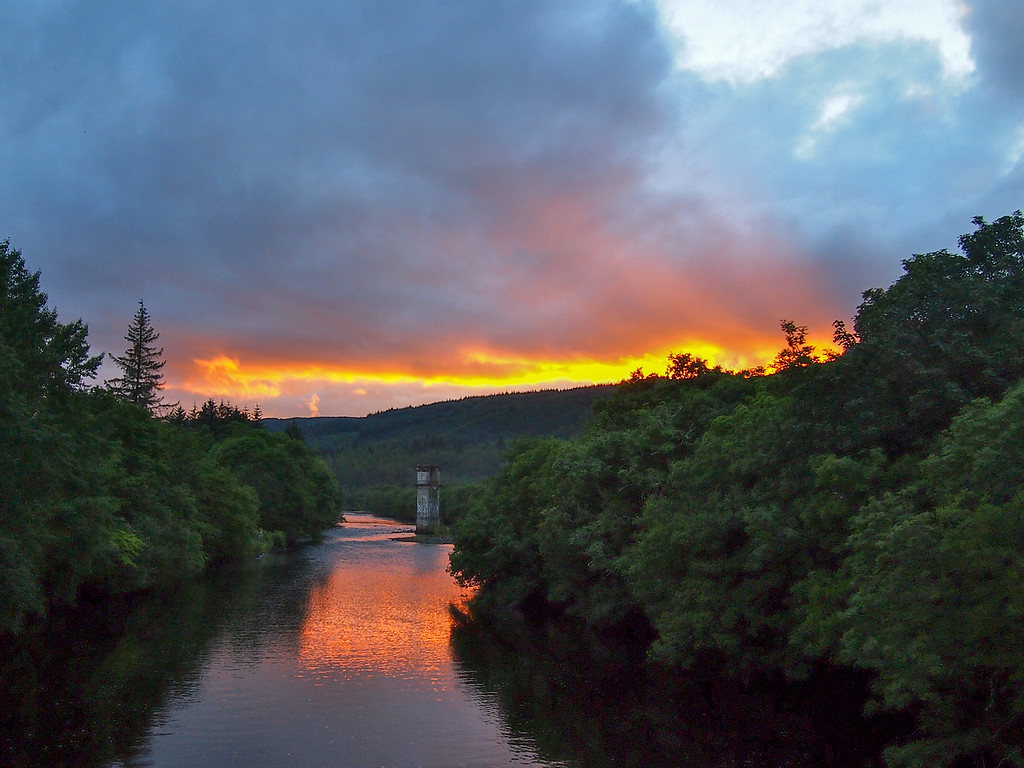 Sunset at Loch Ness