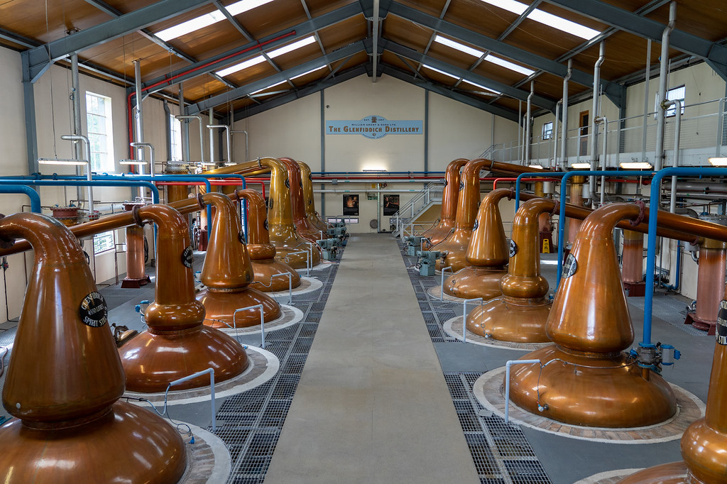 Copper stills at Glenfiddich