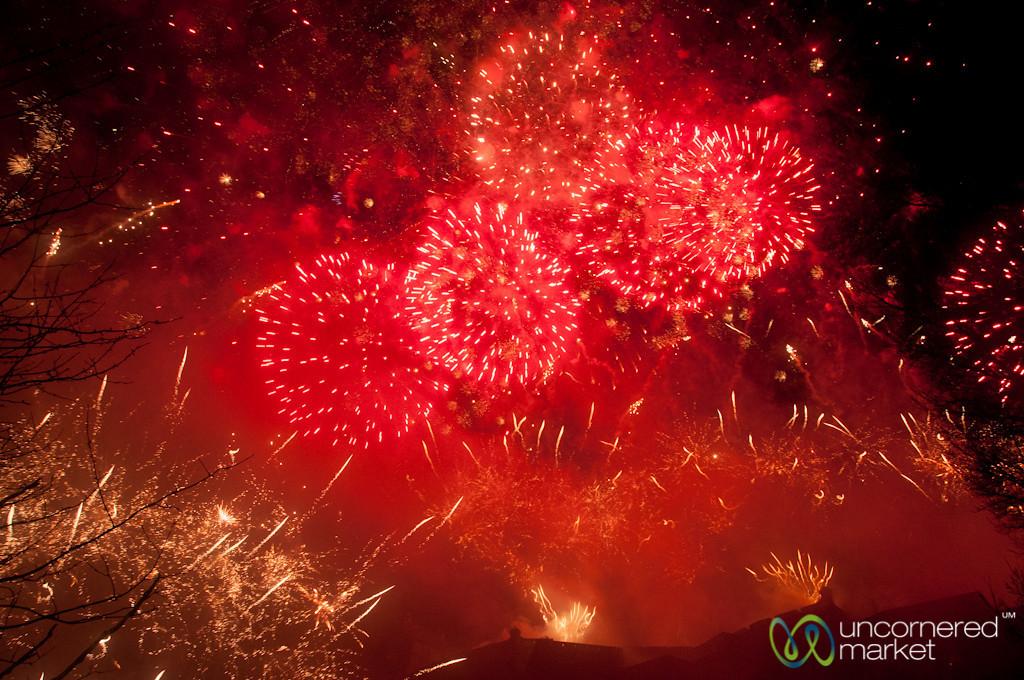 Fireworks Ring in New Year at Edinburgh's Hogmanay