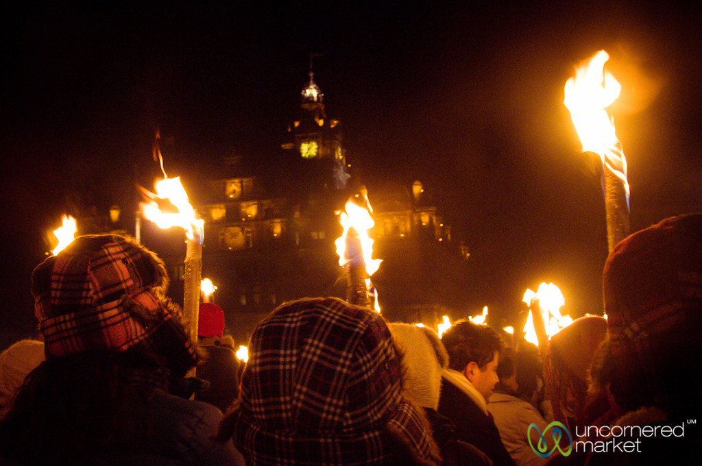Edinburgh Torchlight Procession Kicks off Hogmanay