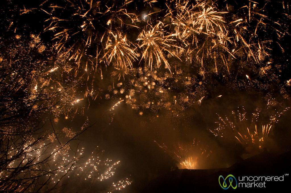 Fireworks Above Edinburgh Castle