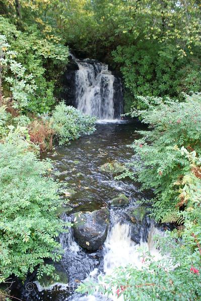 Skye - Dunvegan Castle - Garden Waterfall