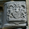 Skye - Dunvegan Castle - Coat of Arms on Rain Drain