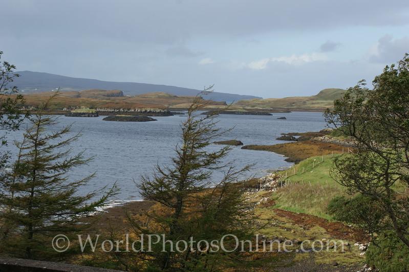 Skye - Dunvegan Castle - View of Loch