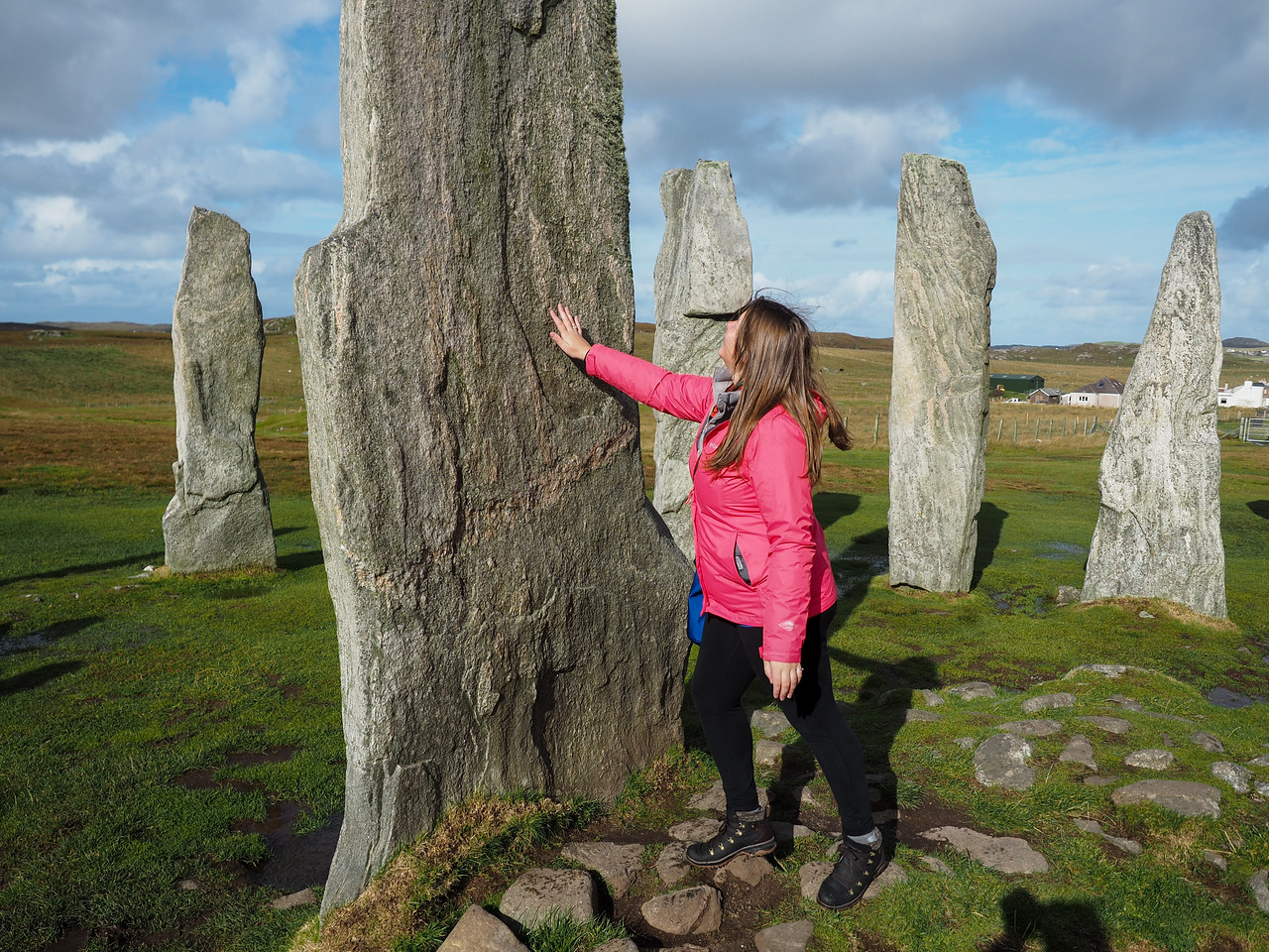 Amanda at the Callanish Standing Stones in Scotland
