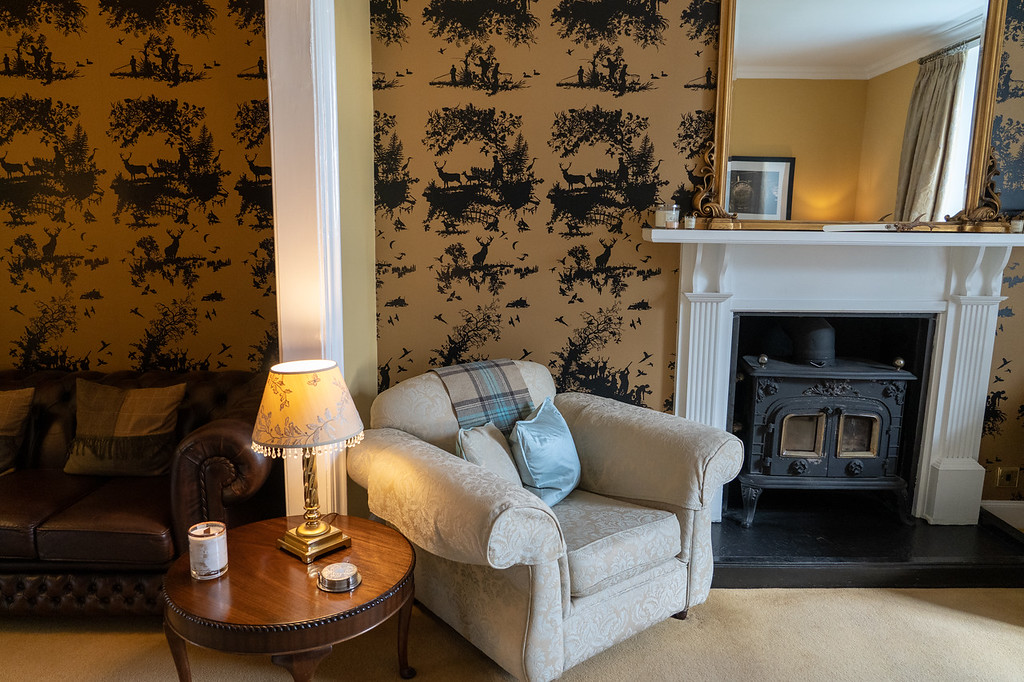 Cozy sitting areas at Glenegedale House