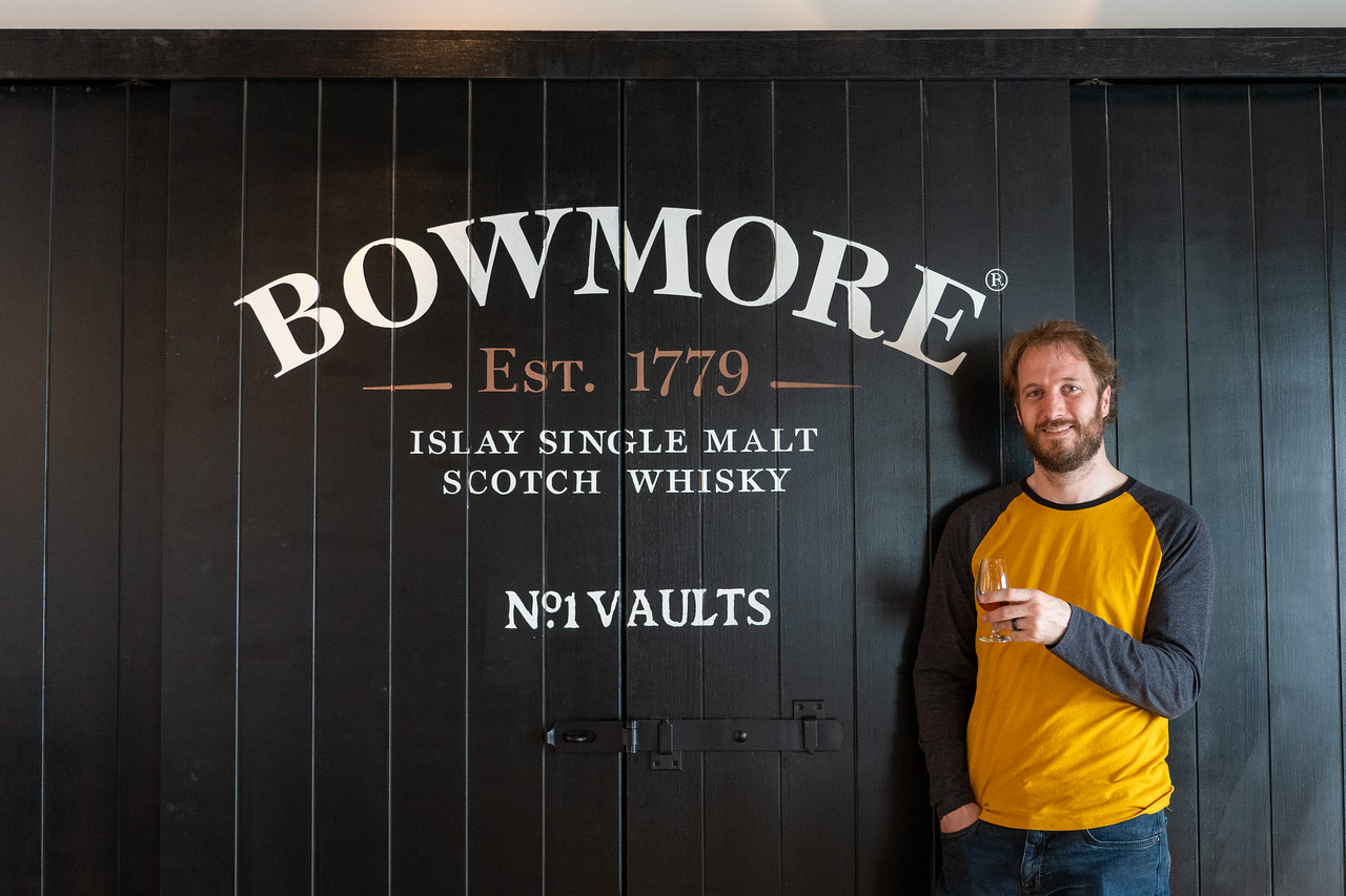 Elliot at Bowmore Distillery