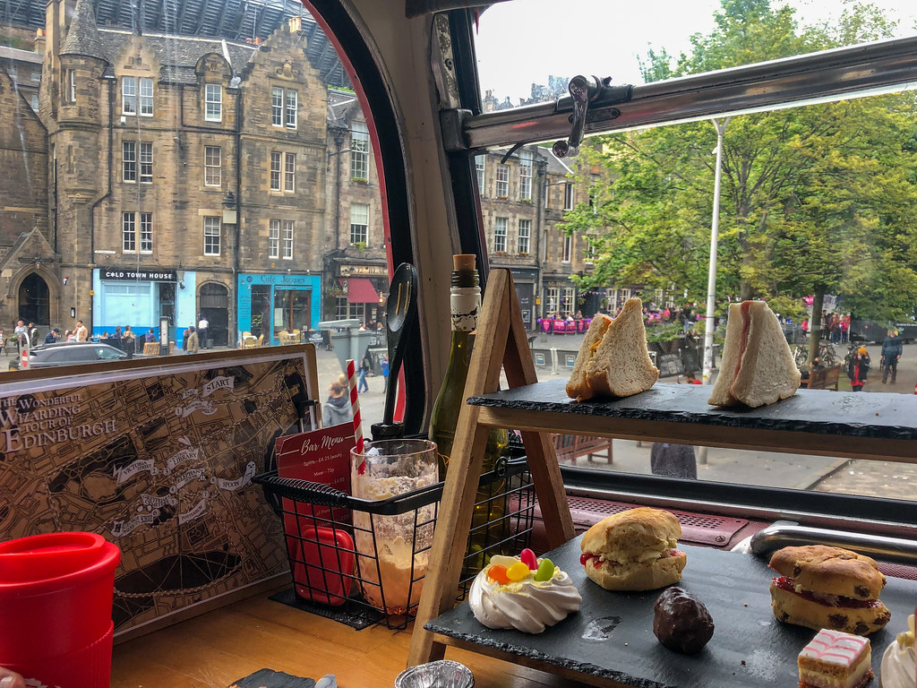 Harry Potter afternoon tea bus