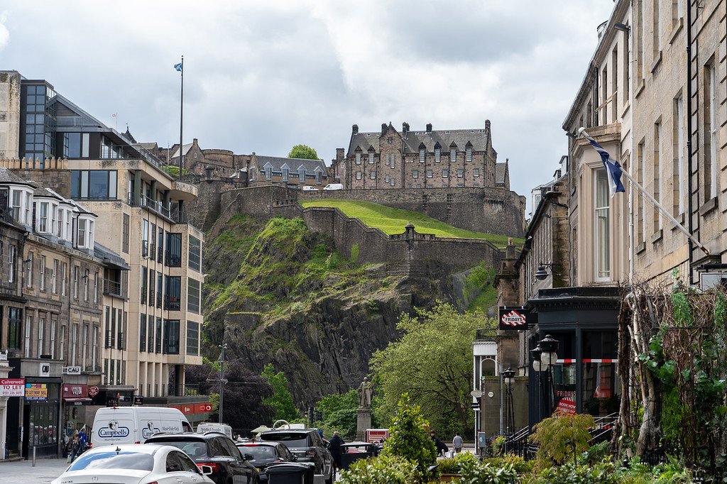 Edinburgh Castle from New Town