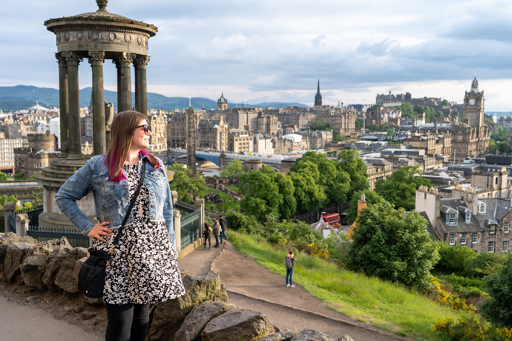 Amanda at Calton Hill in Edinburgh