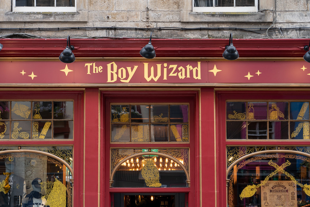 Boy Wizard shop in Edinburgh