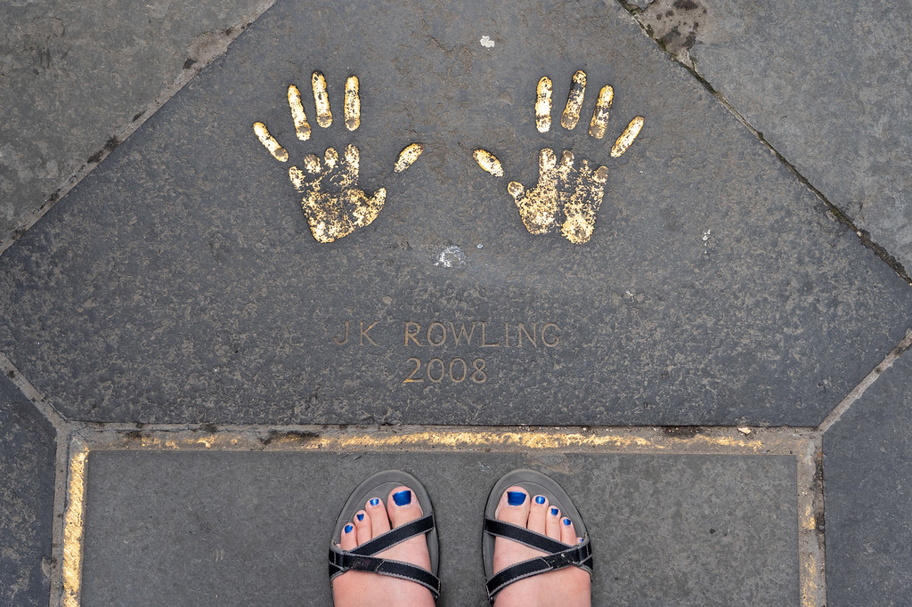JK Rowling handprints