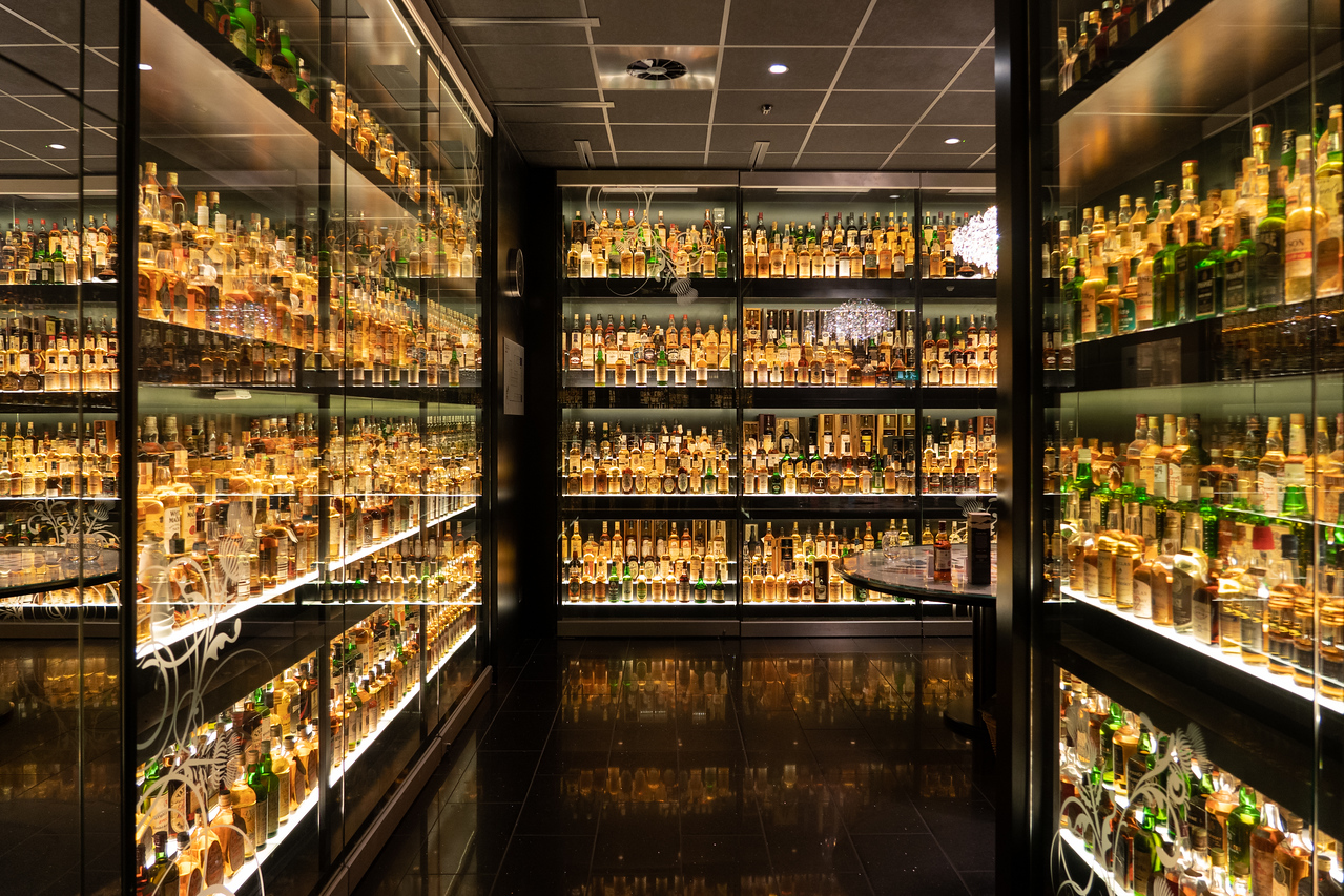 Whisky collection at the Scotch Whisky Experience