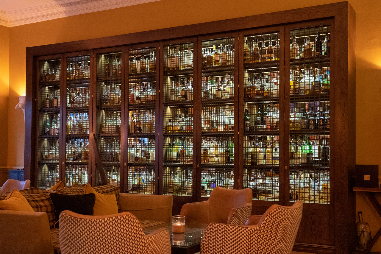 Whisky collection at SCOTCH bar in Edinburgh