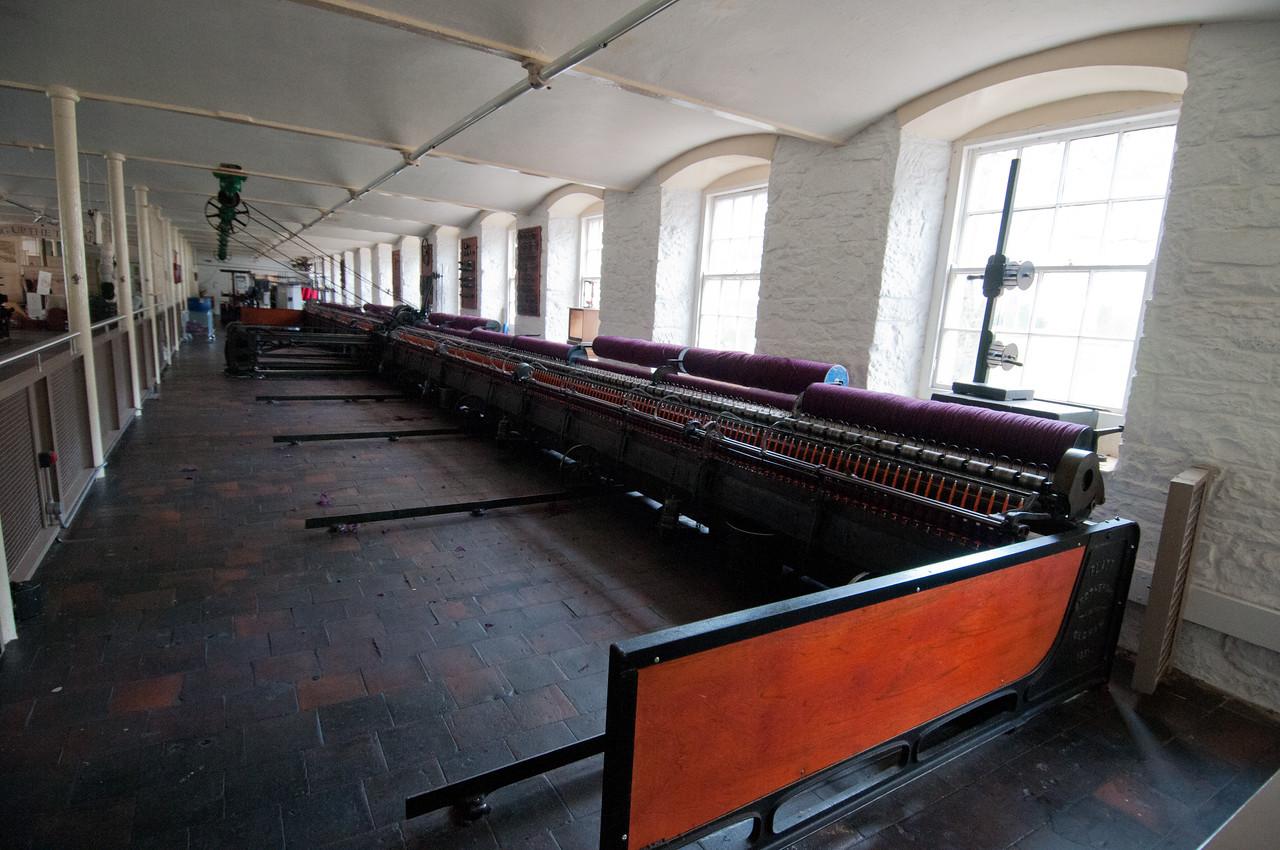 Inside Robert Owen's Mill Museum in New Lanark, Scotland
