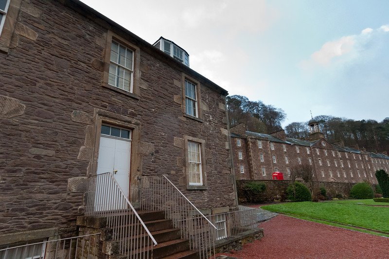 Buildings at New Lanark Visitor Centre - New Lanark, Scotland
