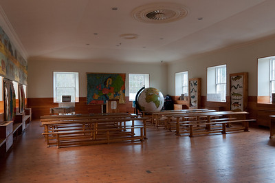 Robert Owen's classroom in New Lanark, Scotland