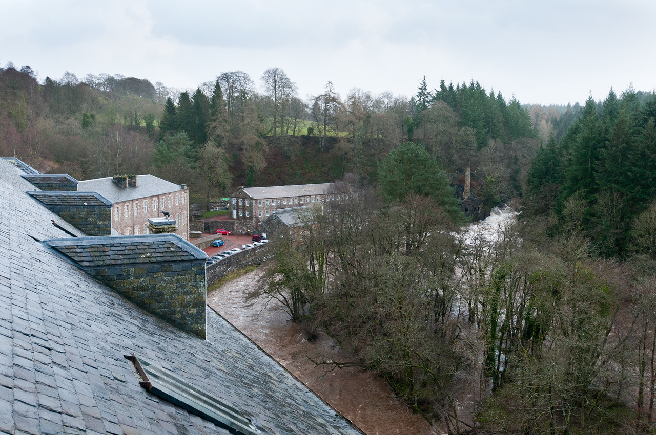 View from the Roof on Mill #3 - New Lanark, Scotland