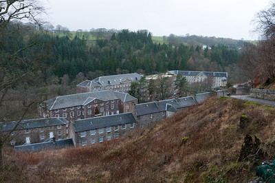 Buildings at New Lanark Visitor Centre in Scotland