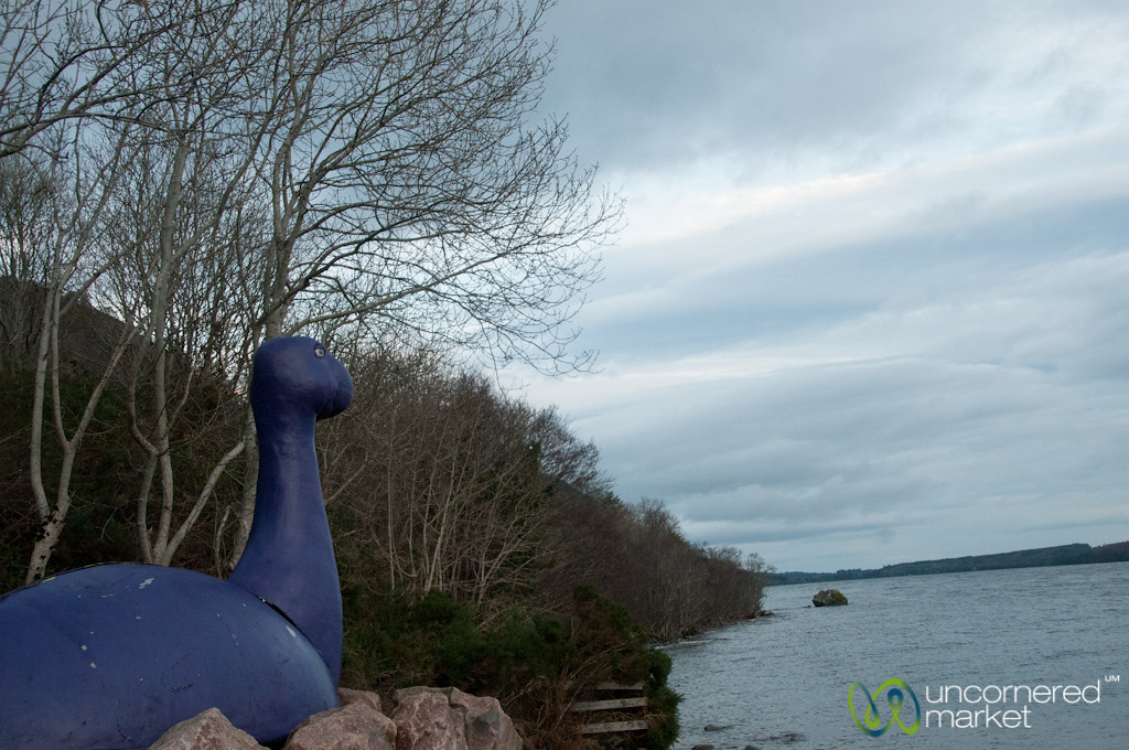 Loch Ness Monster in Purple - Scotland