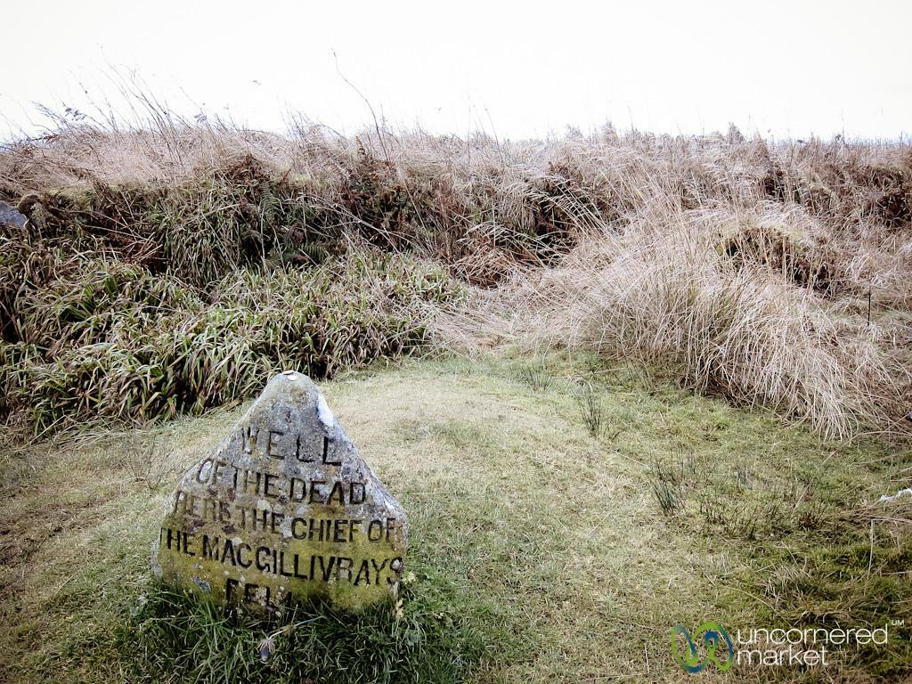 Tombstone of MacGillivrays at Culloden Battlefield - Scotland