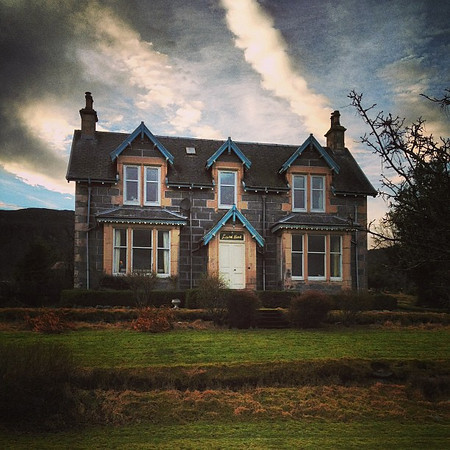 The haunted house of haggis? Laurel Bank, Aviemore #Scotland #skyporn #blogmanay