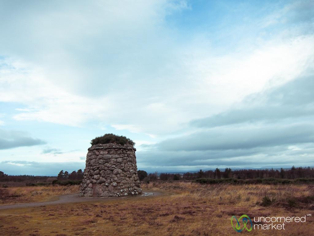 Cairn at Culloden Battlefield - Scotland