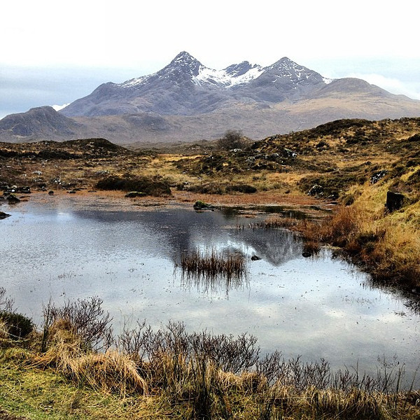 Another amazing Scottish highland landscape, Black Cuillin Mountains on Isle of Skye #blogmanay