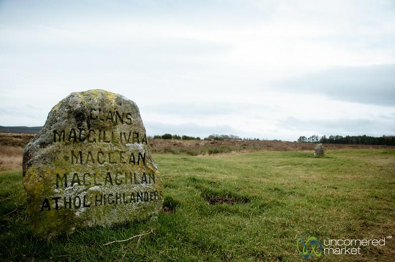 Culloden Battlefield, Tombstone - Scotland