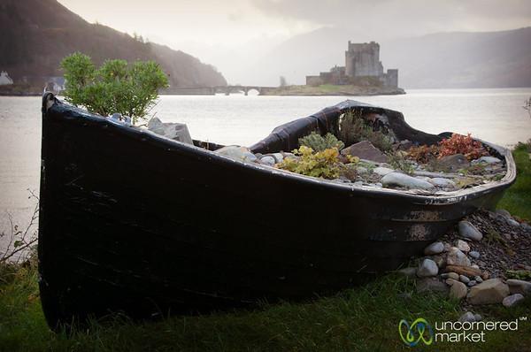 Boat and Eilean Donan Castle - Scotland