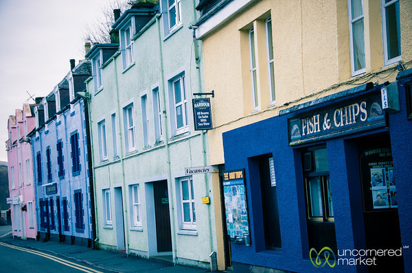 Colorful Buildings at Portree Harbor - Isle of Skye, Scotland