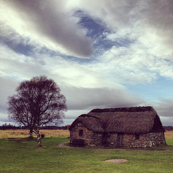 Wee Scottish farmhouse, Culloden, #skyporn #Scotland #blogmanay