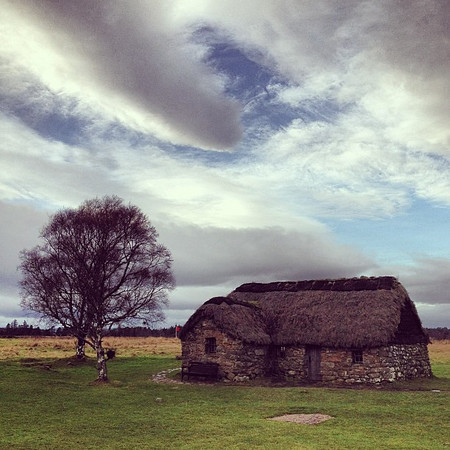 Wee Scottish farmhouse, Culloden, #skyporn #Scotland #blogmanay
