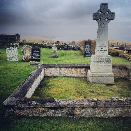 Old Scottish burial ground with Celtic cross, Kilmuir Cemetery, Isle of Skye #blogmanay