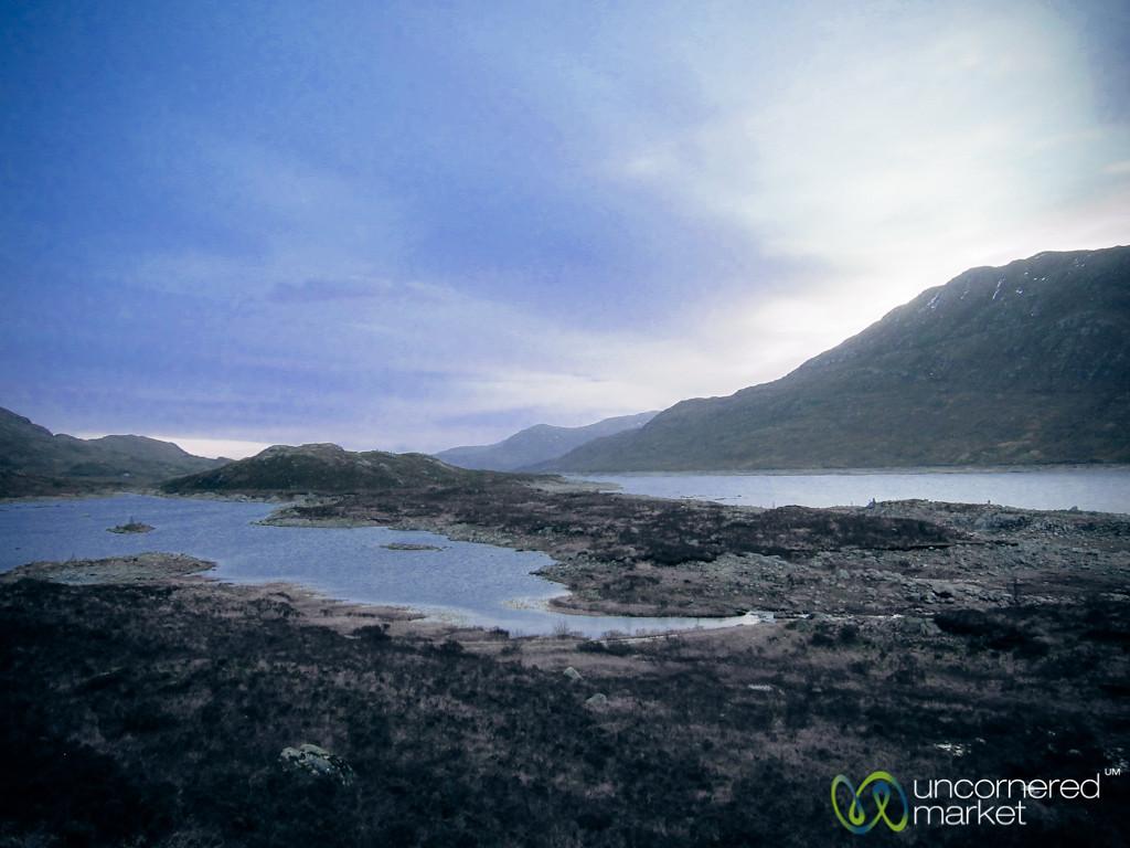 Scottish Loch in Early Morning Light