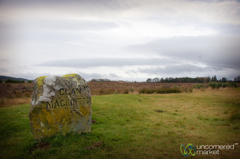 Clan MacKintosh Tombstone at Culloden Battlefield - Scotland