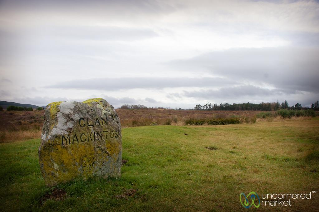 Clan MacKintosh Tombstone at Culloden Battlefield - Scotland