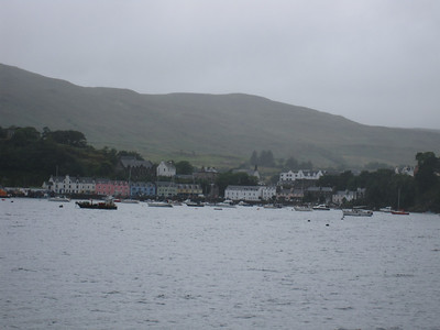 Portree Harbor in the Rain