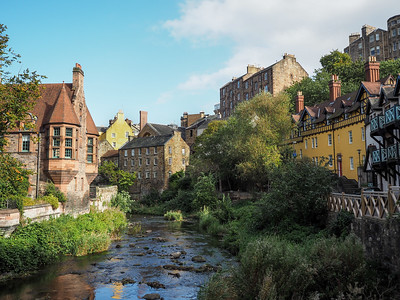 Dean Village in Edinburgh, Scotland