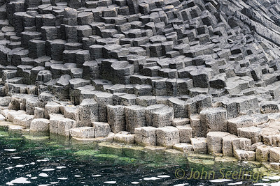 Basalt on Staffa island
