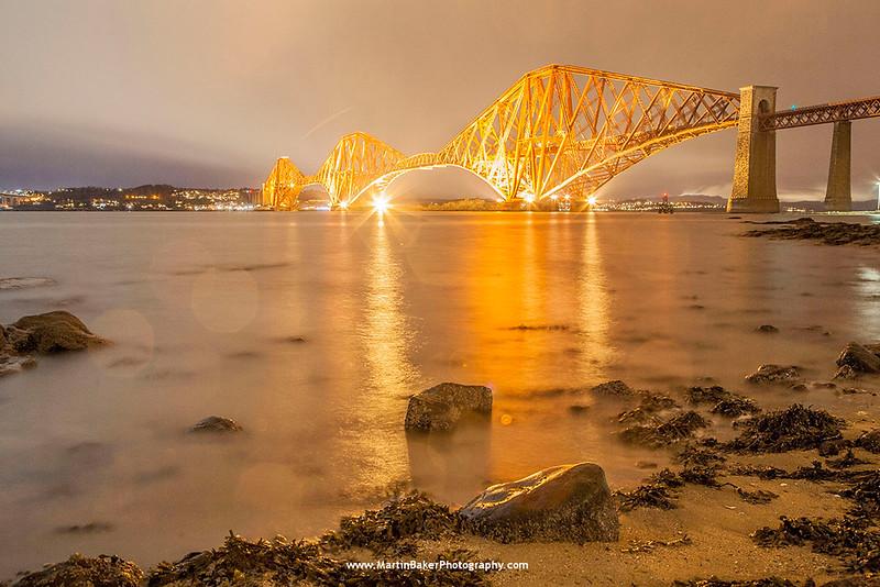 Forth Bridge, South Queensferry, Edinburgh, Lothian, Scotland.