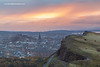 The Salisbury Crags, Holyrood Park, Edinburgh, Scotland.
