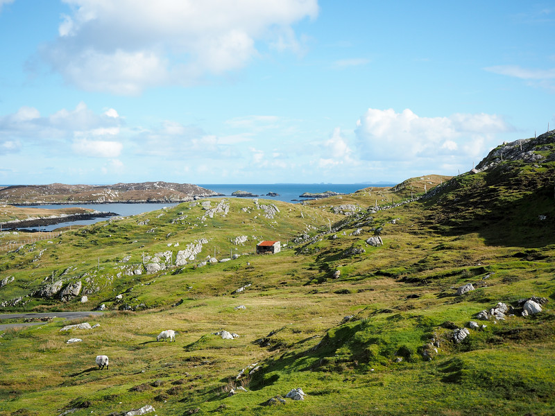 Along the Golden Road on the Isle of Harris