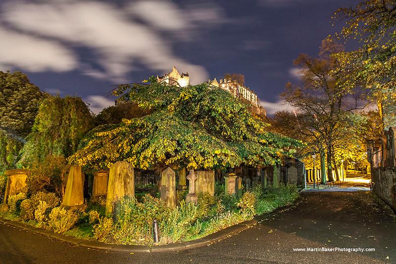 St. Cuthbert's Cemetery and Edinburgh Castle, Edinburgh, Scotland.