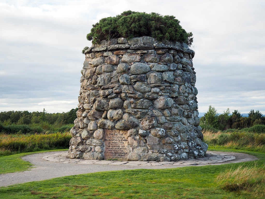 Cairn at Culloden Battlefield