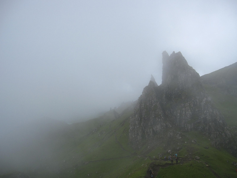 fog on the storr near portree