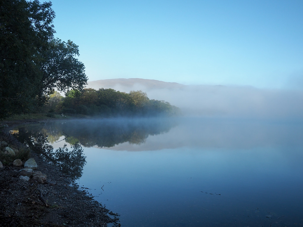 A foggy morning at Loch Ness